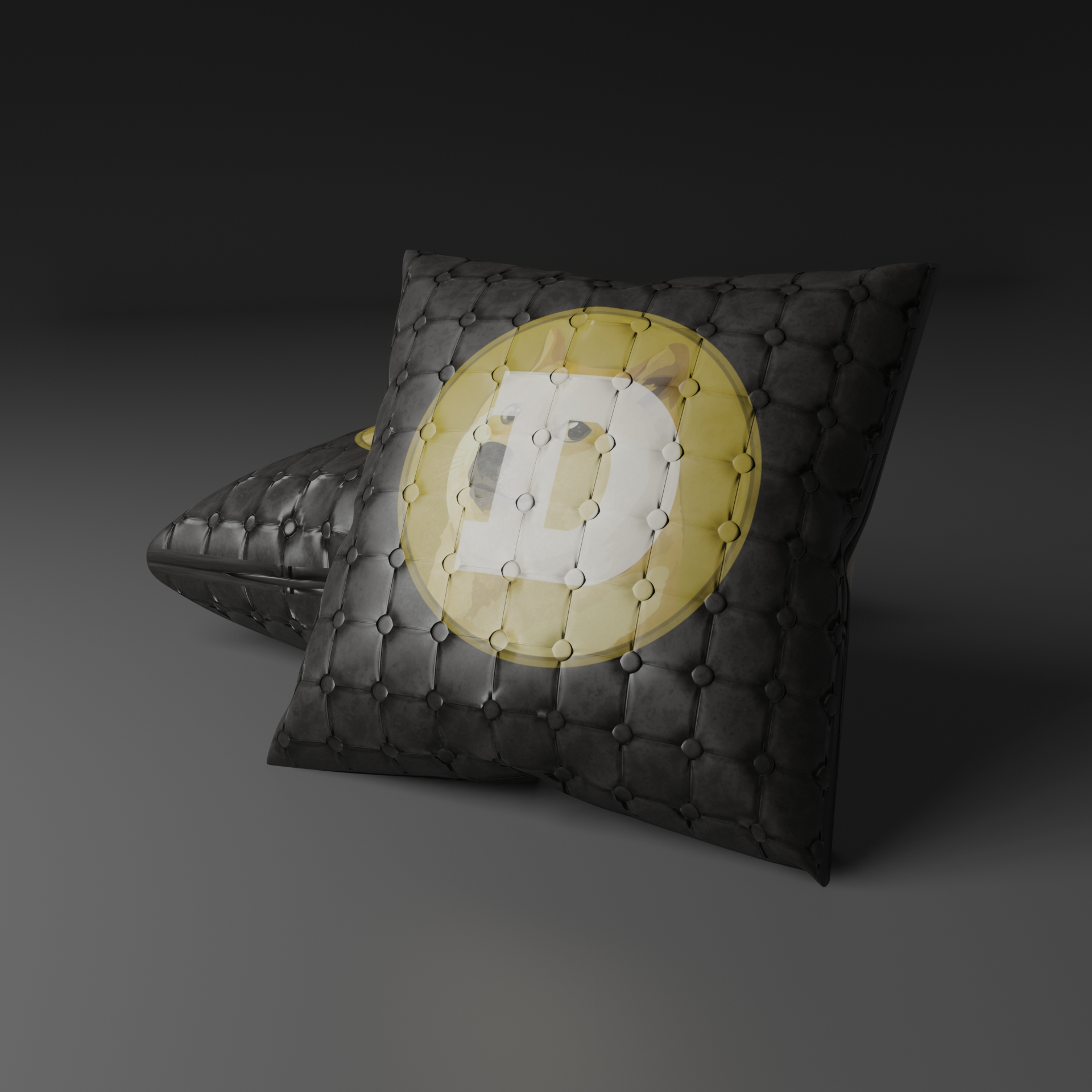 Nft Leather Doge Pillow